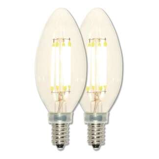 4 Watt - Candelabra Base 2700K - B11 Filament LED 80 CRI - Clear - Dimmable 2 Pack Westinghouse Lighting