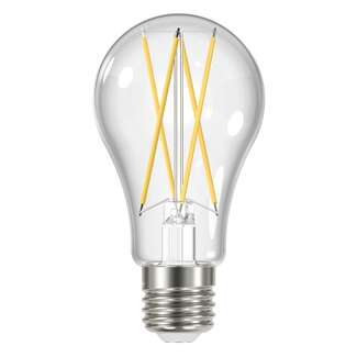 12 Watt - 1,500 Lumens 3000K - A19 Filament LED - 4 pack 80 CRI - Clear - Dimmable Satco Lighting