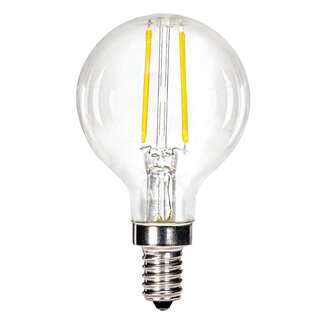 5.5 Watt - Candelabra Base 3000K - G16 Filament LED 83 CRI - Dimmable Satco Lighting