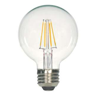 6.5 Watt - Medium Base 3000K - G25 Filament LED 80 CRI - Dimmable Satco Lighting