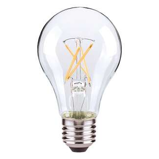 7.5 Watt - 800 Lumens 3000K - A19 Filament LED 83 CRI - Clear - Dimmable 4 Pack Satco Lighting