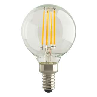 5.5 Watt - Candelabra Base 2700K - G16.5 Filament LED 82 CRI - Dimmable Satco Lighting