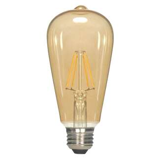 4.5 Watt - Medium Base 2000K - ST19 Filament LED 80 CRI - Dimmable Transparent Amber Satco Lighting