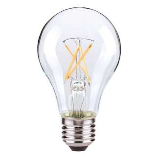 8 Watt - 800 Lumens 2700K - A19 Filament LED 90 CRI - Clear - Dimmable Satco Lighting