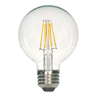 5.5 Watt - Medium Base 3000K - G25 Filament LED 90 CRI - Dimmable Satco Lighting