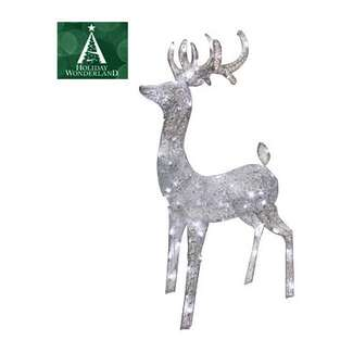 "52"" Silver Morphing Buck 60 Pure White LEDs Holiday Wonderland"