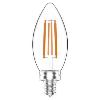 5 Watt - Candelabra Base 3000K - B11 Filament LED 90 CRI - Frosted - Dimmable RAB Lighting