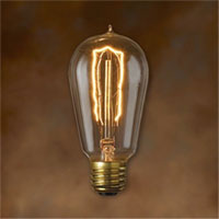 Clear Nostalgic Victorian Hairpin Filament 40 Watt