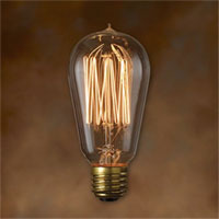 Clear Nostalgic Victorian Squirrel Cage Filament 60 Watt