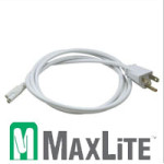 48 Inch White Cord with Molded Plug for Maxlite LED Light Bar